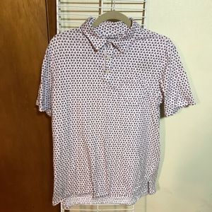 Goodfellow & Co polo shirt with sailboats, size M
